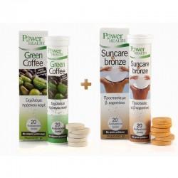 Green Coffee 20 Αναβράζοντα Δισκία & ΔΩΡΟ Suncare 'n' Bronze 20 Αναβράζοντα Δισκία