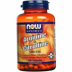 Arginine & Citruline 500/250 120 κάψουλες