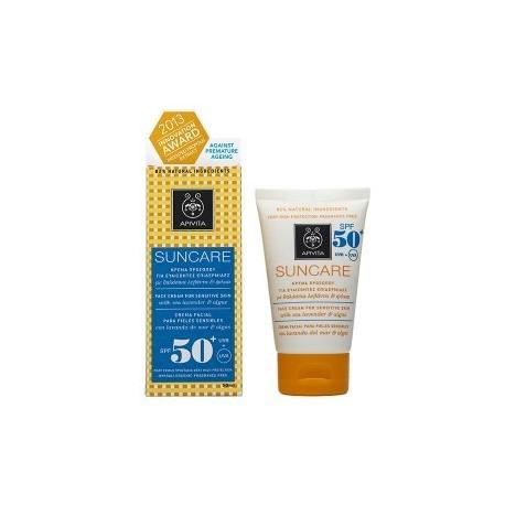 FACE: Κρέμα προσώπου για ευαίσθητες επιδερμίδες SPF50+ με θαλάσσια λεβάντα & φύκια-30%
